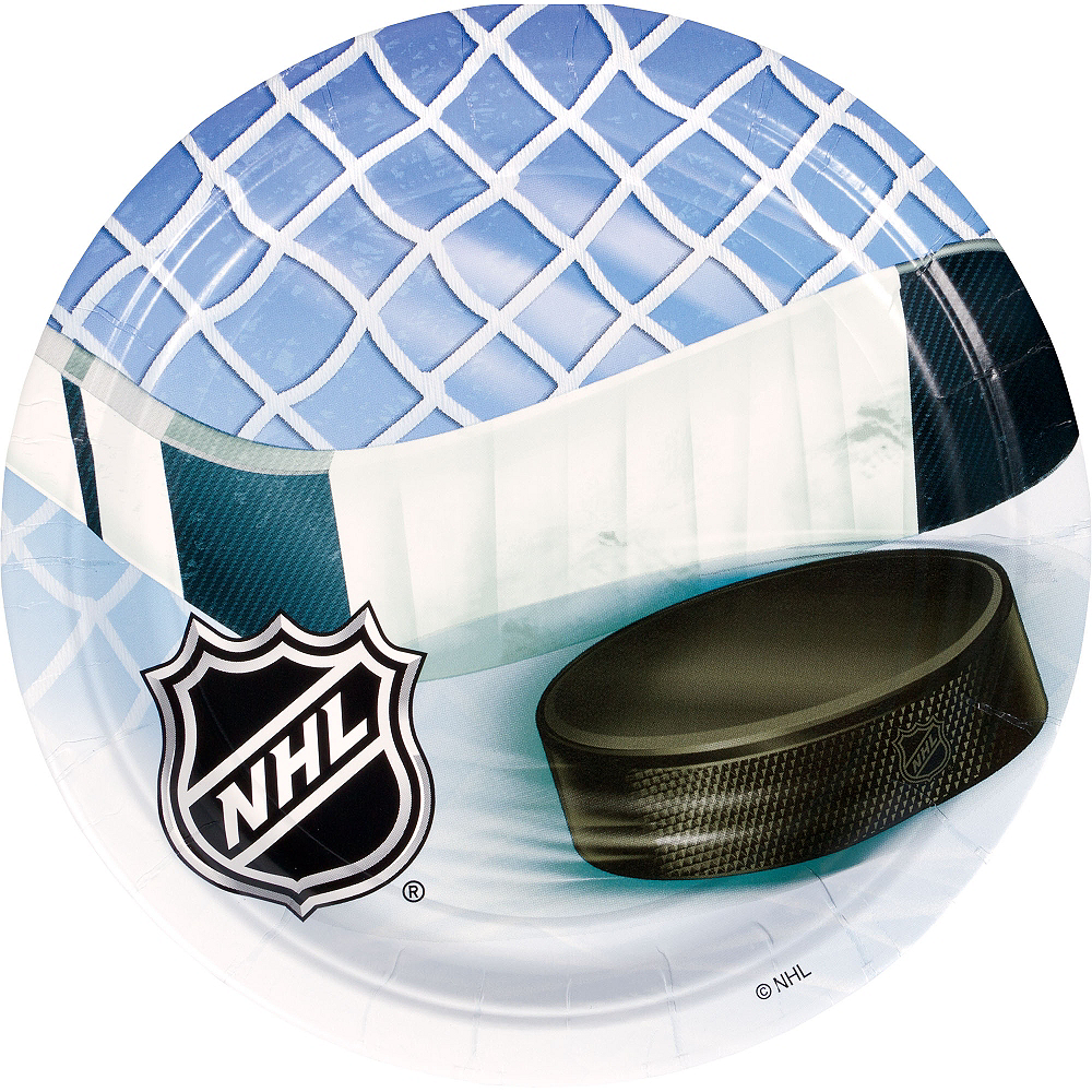 NHL Ice Time Lunch Plates 8ct Image #1