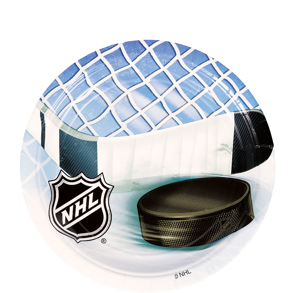 NHL Ice Time Dessert Plates 8ct Image #1