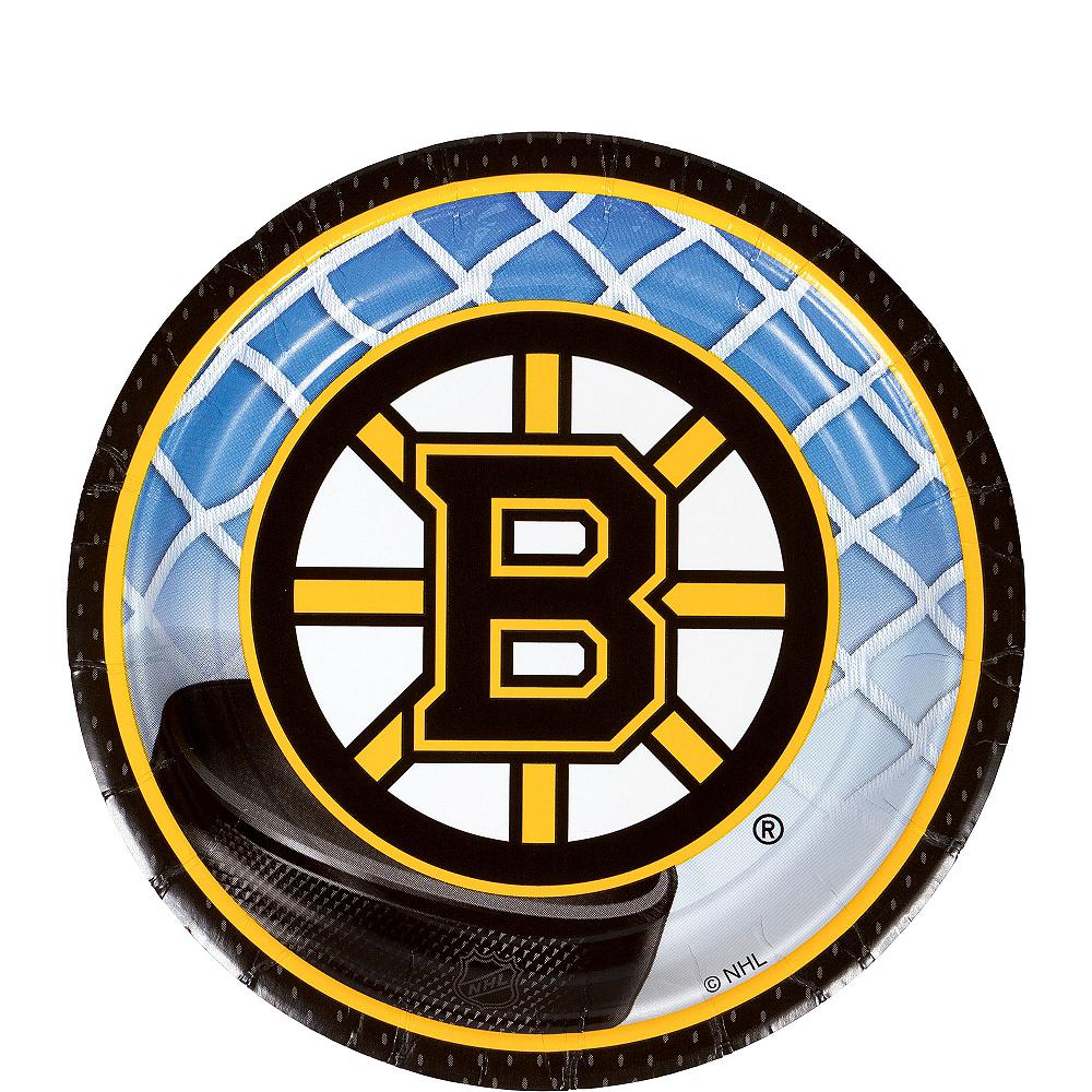 Boston Bruins Dessert Plates 8ct Image #1