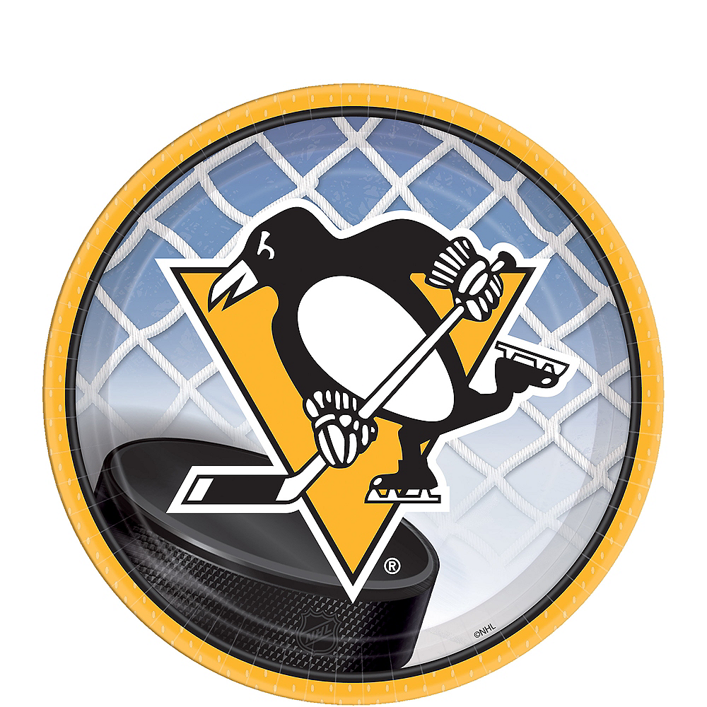 Pittsburgh Penguins Dessert Plates 8ct Image #1