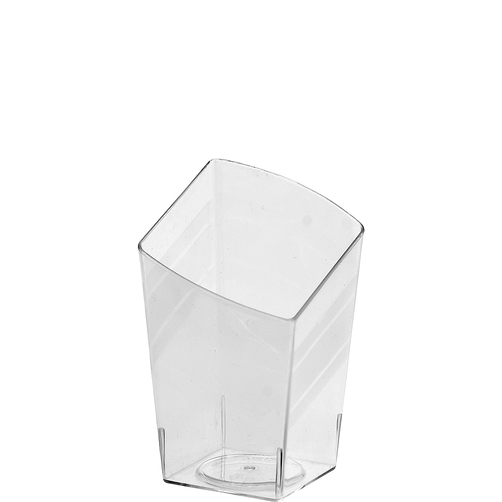 Mini CLEAR Plastic Slanted Tumblers 10ct Image #1