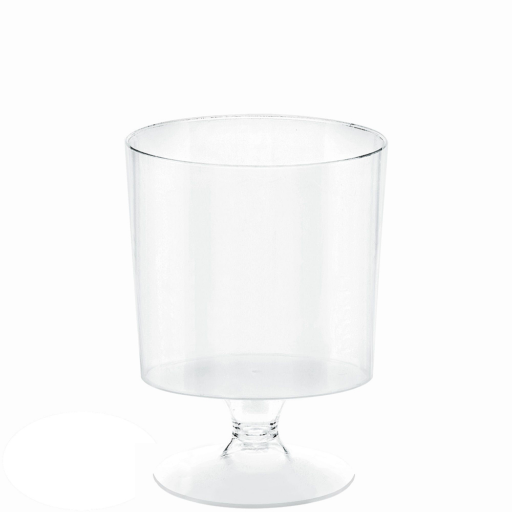 Mini CLEAR Plastic Pedestal Cups 10ct Image #1