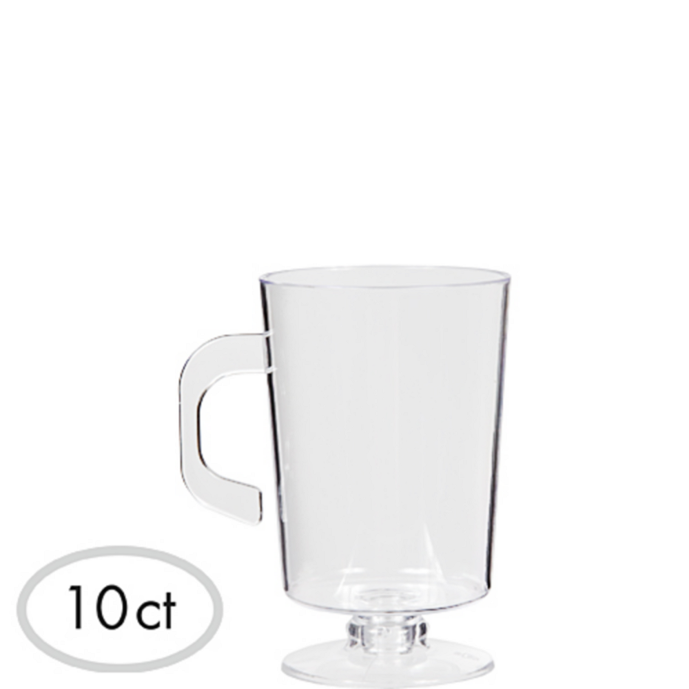 Mini CLEAR Plastic Coffee Cups 10ct Image #1