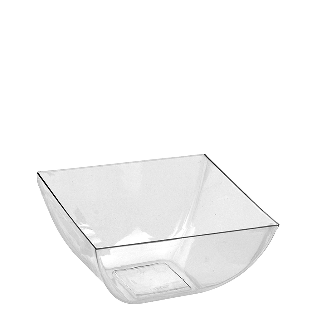 Mini CLEAR Plastic Square Bowls 10ct Image #1