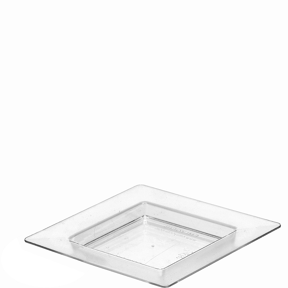 Mini CLEAR Plastic Square Appetizer Plates 40ct Image #1