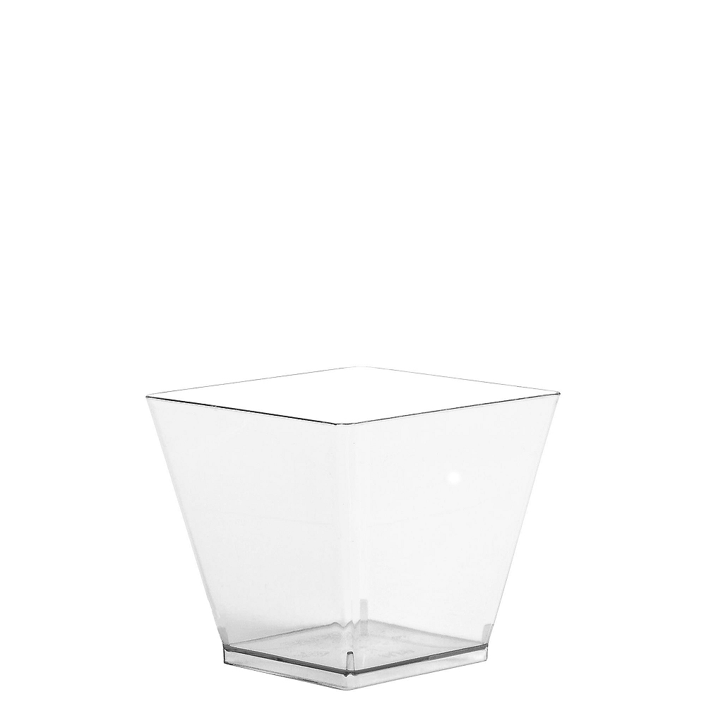 Mini CLEAR Plastic Cubed Bowls 40ct Image #1