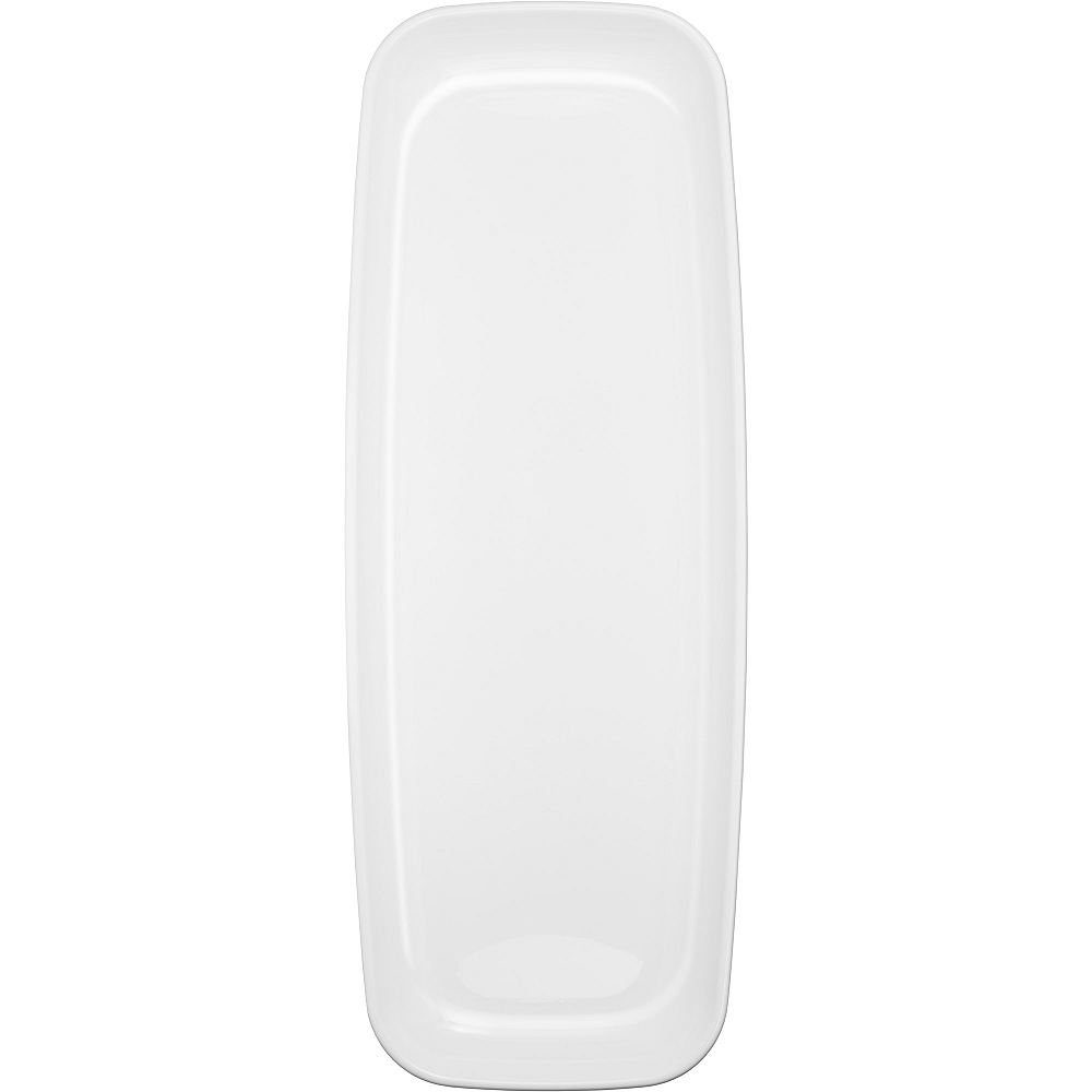 White Plastic Long Rectangular Platter Image #1