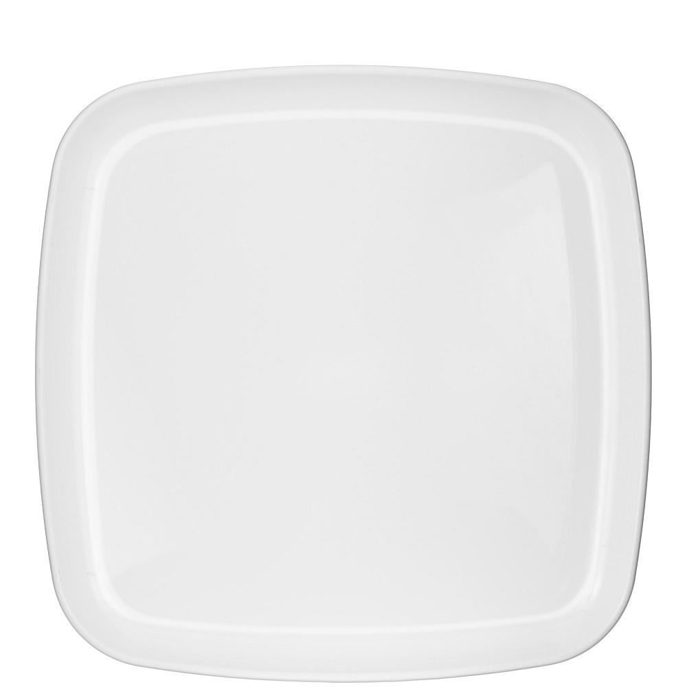 White Plastic Square Platter Image #1