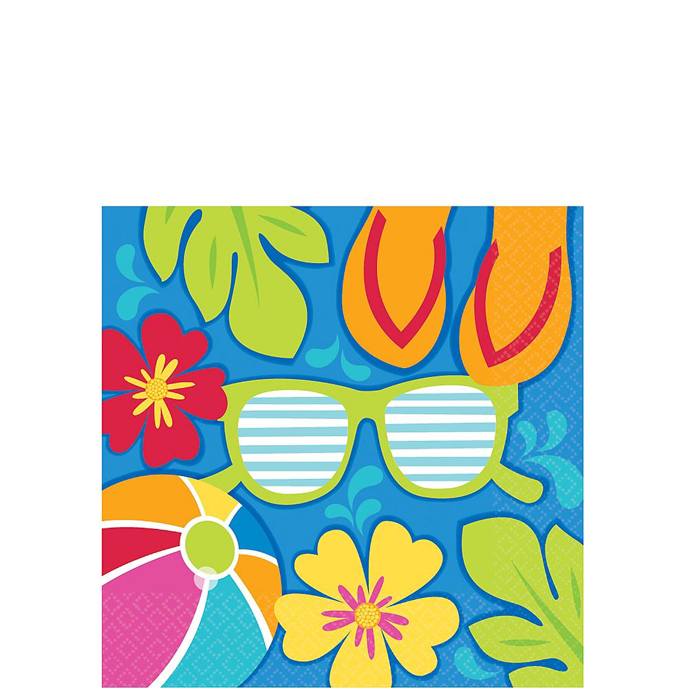 Summer Splash Beverage Napkins 36ct Image #1