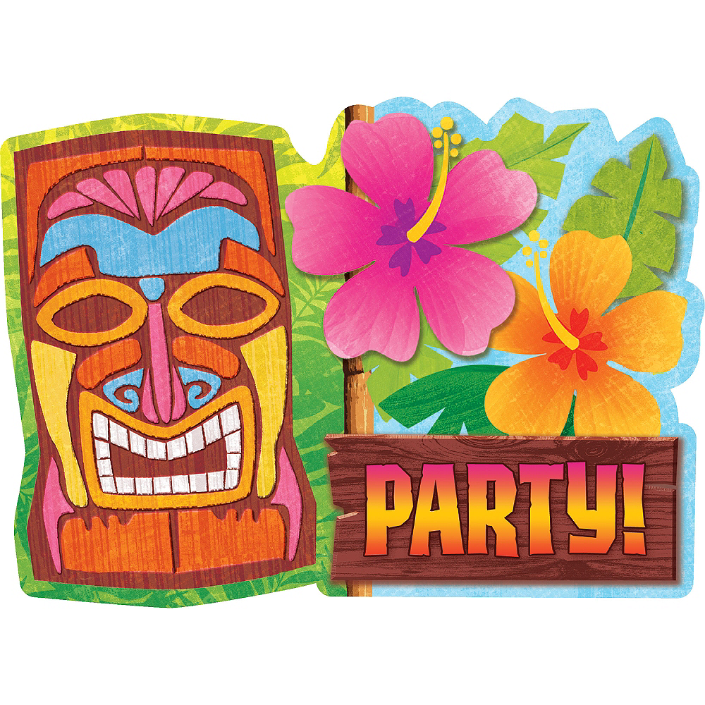 Tiki Man Invitations 20ct Image #1