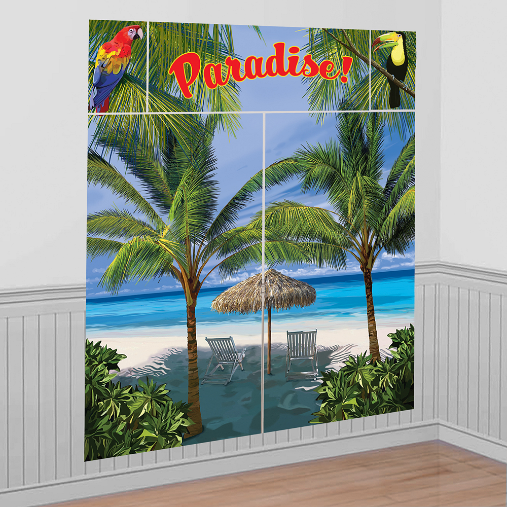 Palm Tree Scene Setter Kit 5pc Image #1