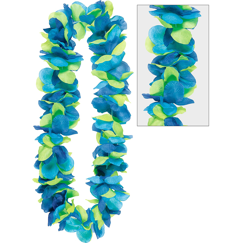 Cool Tropical Flower Lei 40in Party City