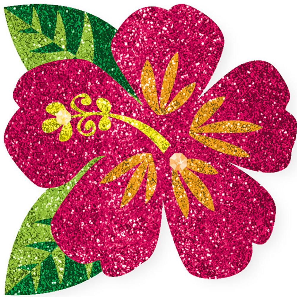 Glitter Hibiscus Flower Body Jewelry Image #1