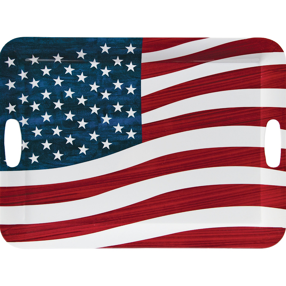 Nav Item for American Flag Serving Tray Image #1