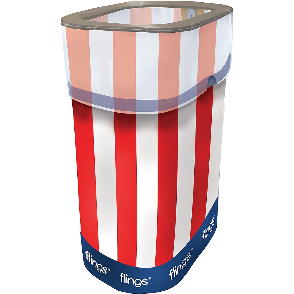 Patriotic Red, White & Blue Pop-Up Trash Bin Image #1