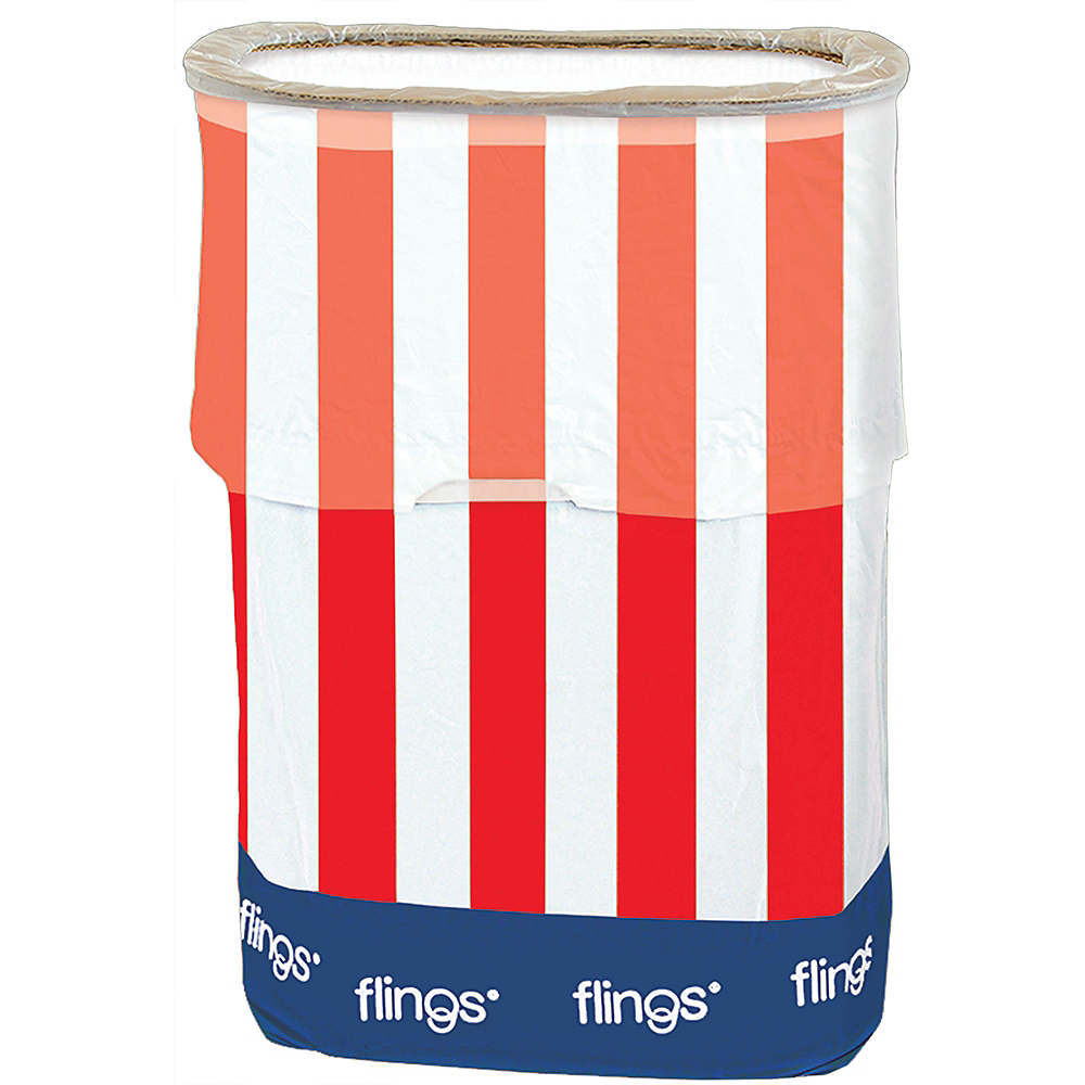 Patriotic Red, White & Blue Pop-Up Trash Bin Image #2