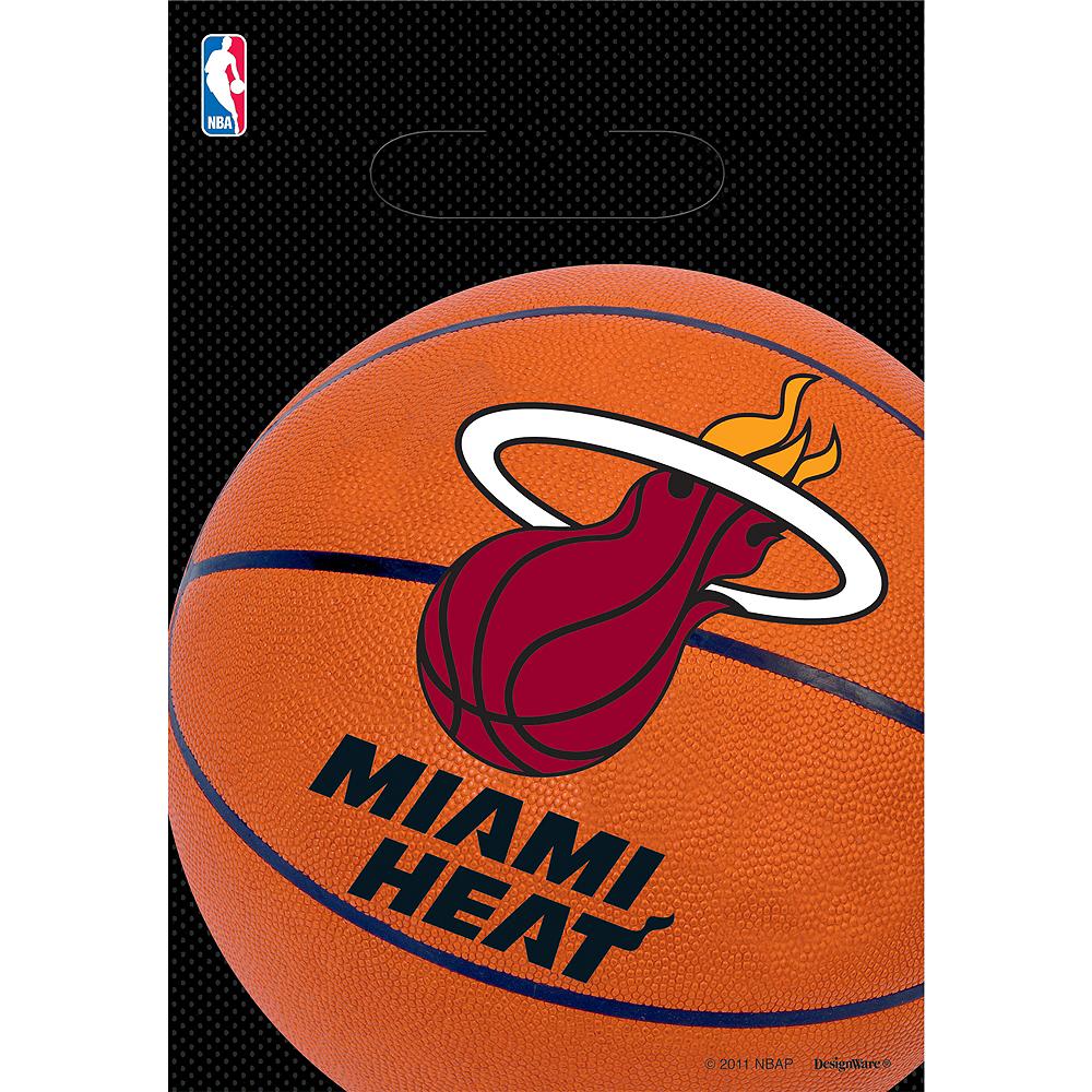 Miami Heat Favor Bags 8ct Image #1