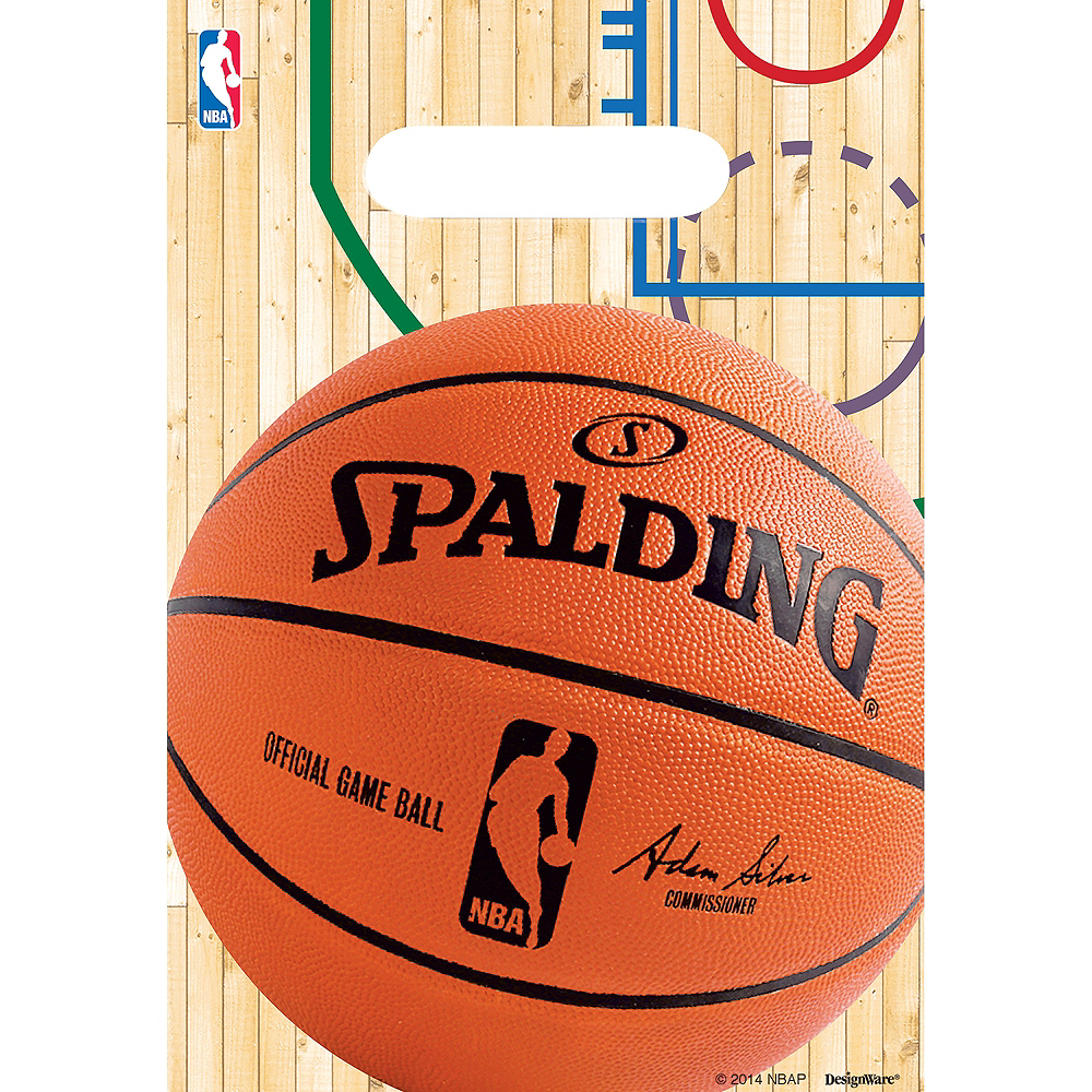 Spalding Basketball Favor Bags 8ct Image #1