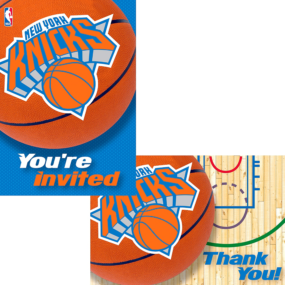 New York Knicks Invitations & Thank You Notes for 8 Image #1