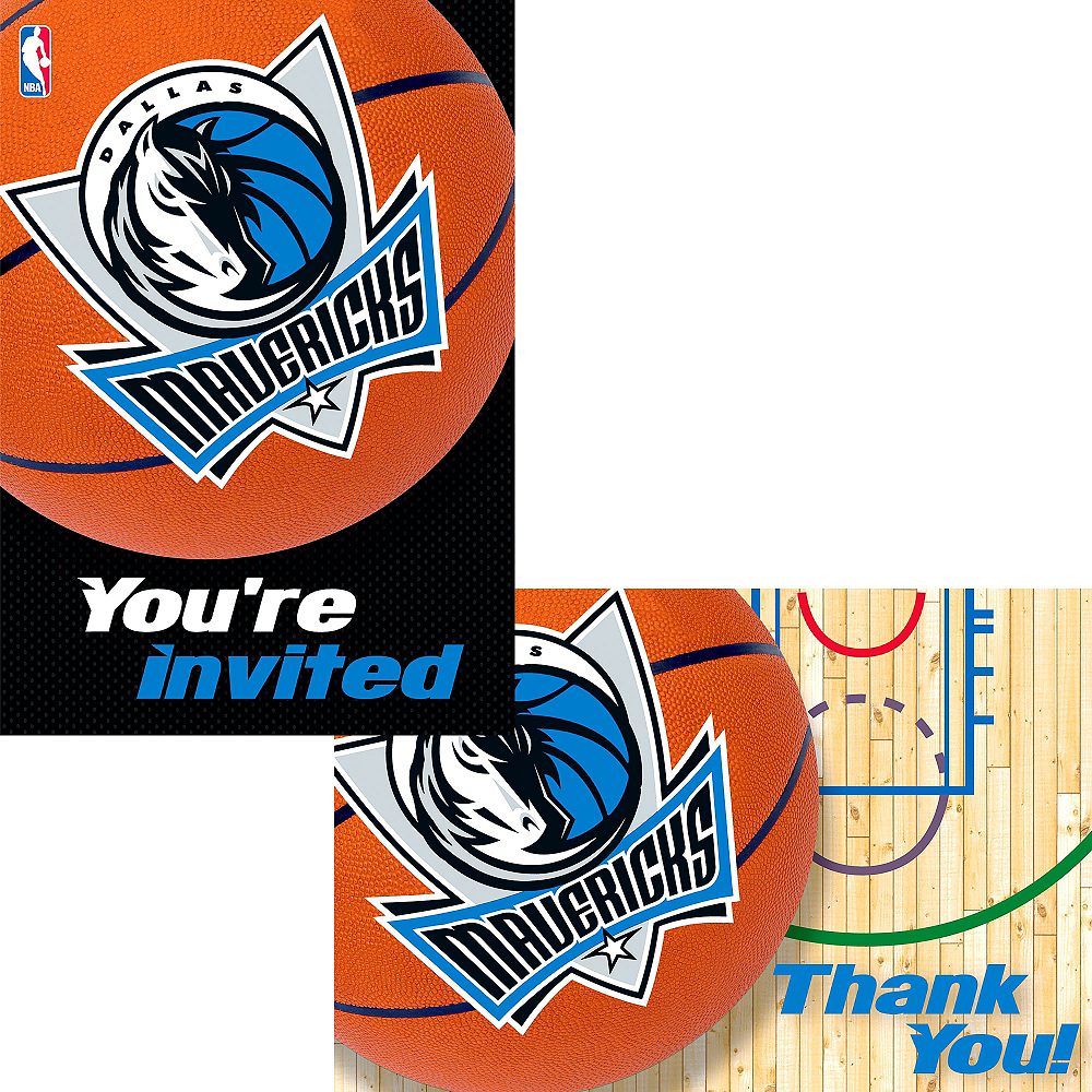 Dallas Mavericks Invitations & Thank You Notes for 8 Image #1