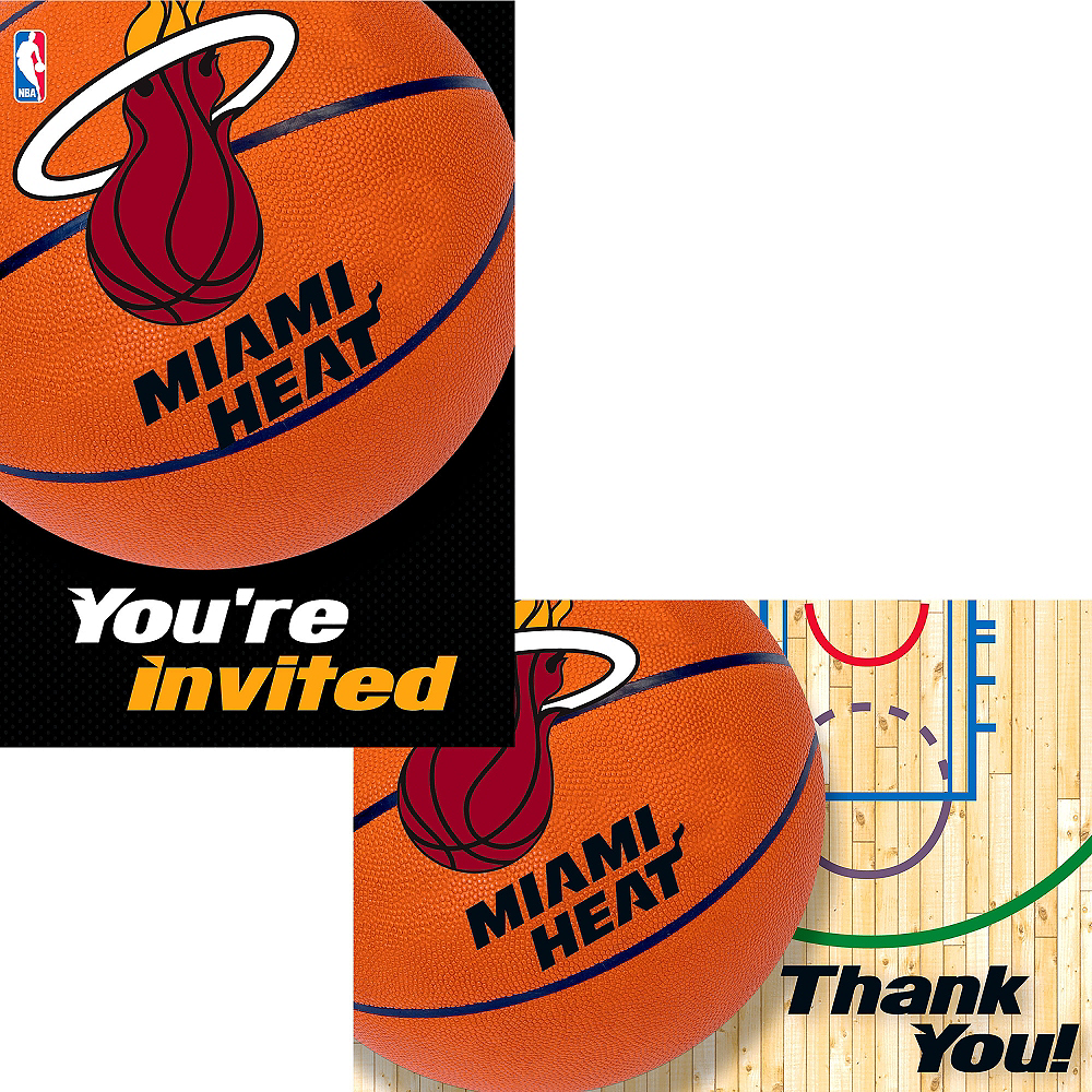 Miami Heat Invitations & Thank You Notes for 8 Image #1