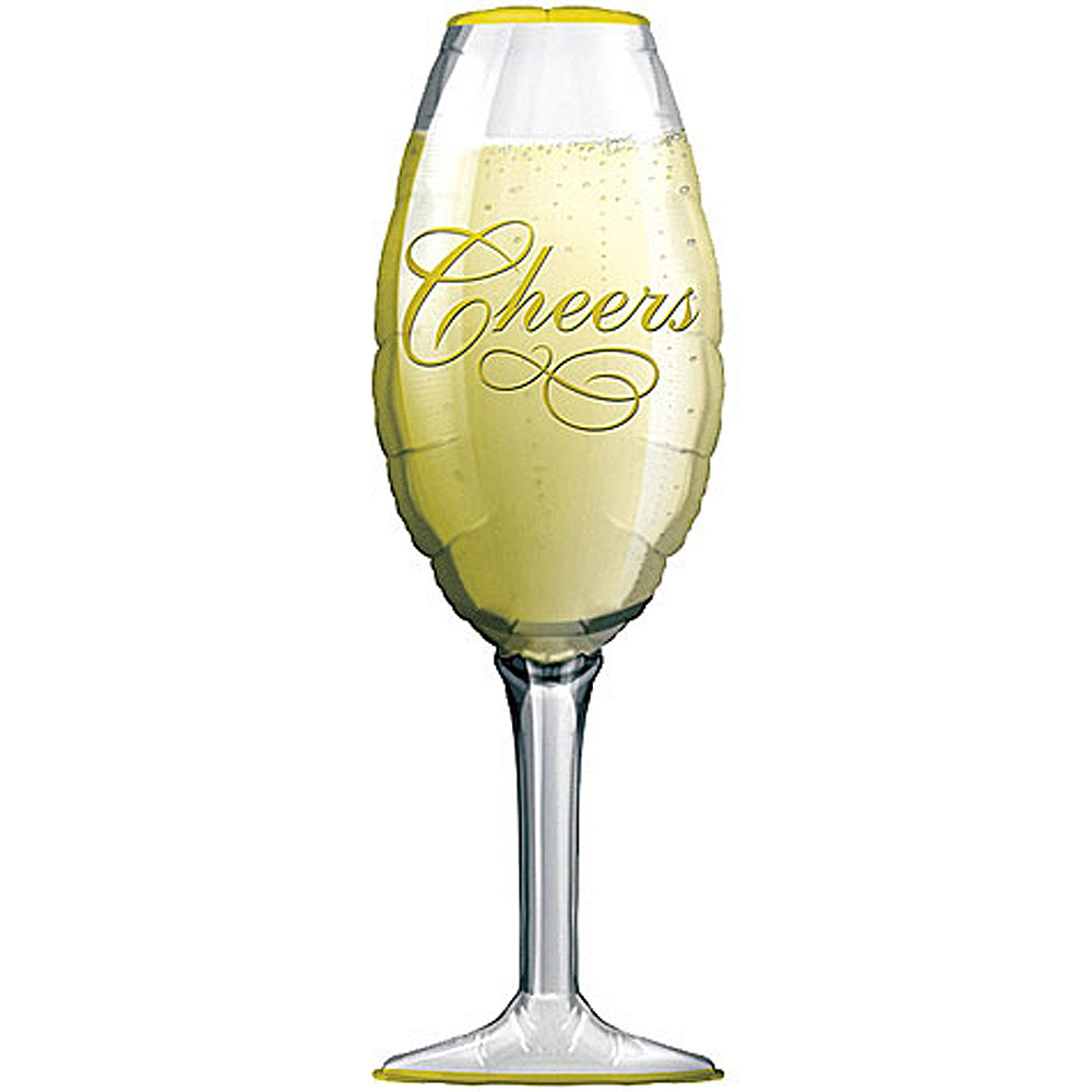 Champagne Glass Balloon Image #1