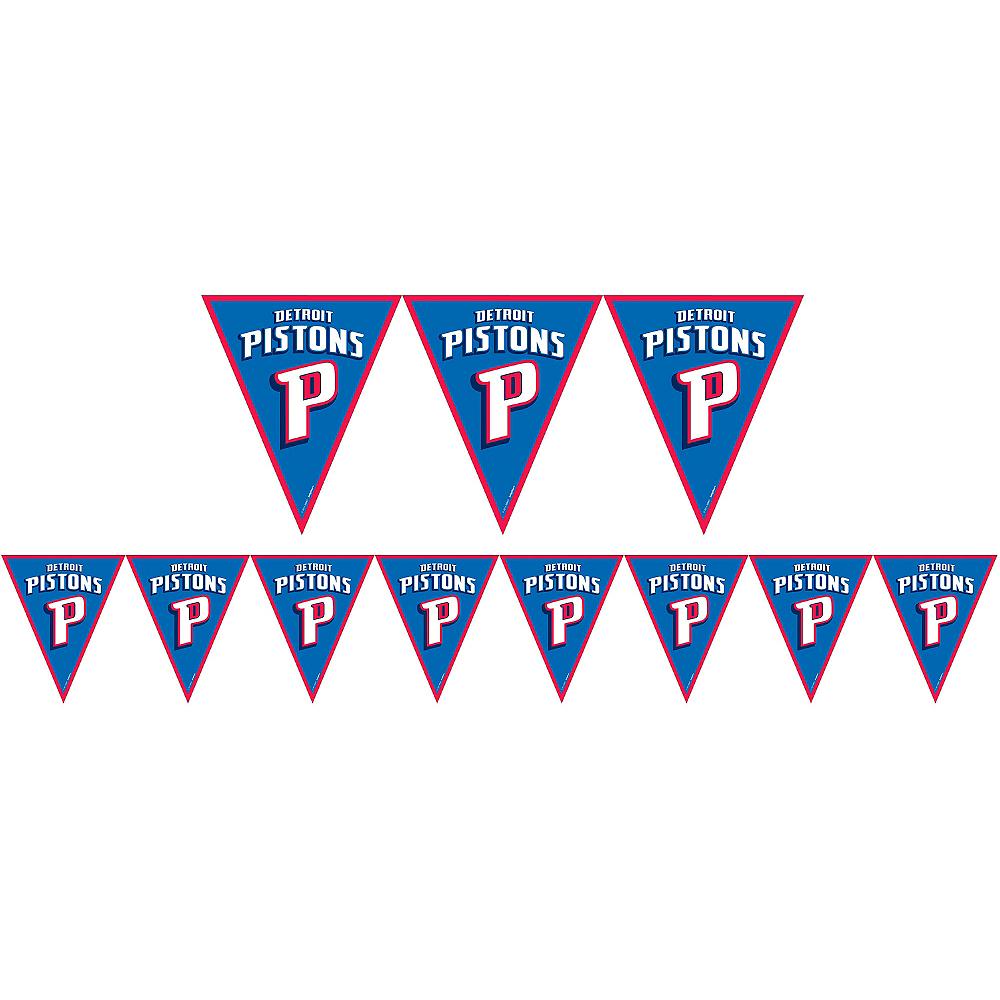 Detroit Pistons Pennant Banner Image #1