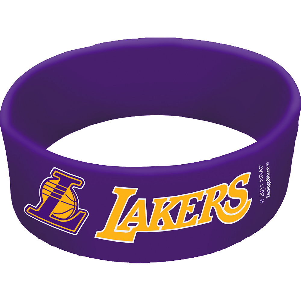 Los Angeles Lakers Wristbands 6ct Image #1