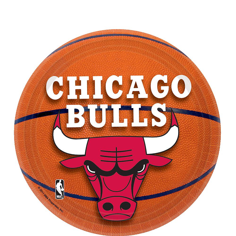 Chicago Bulls Dessert Plates 8ct Image #1