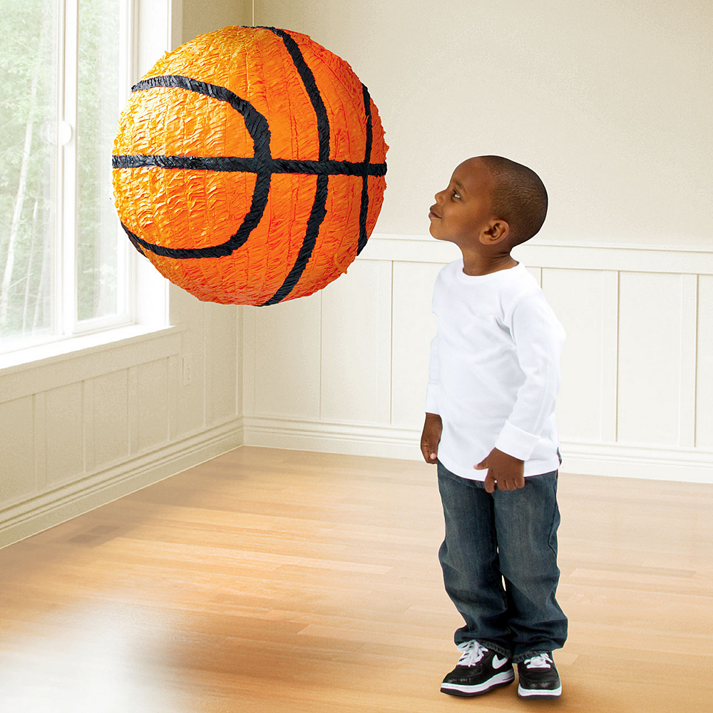 Jumbo Basketball Pinata 14in Image #2