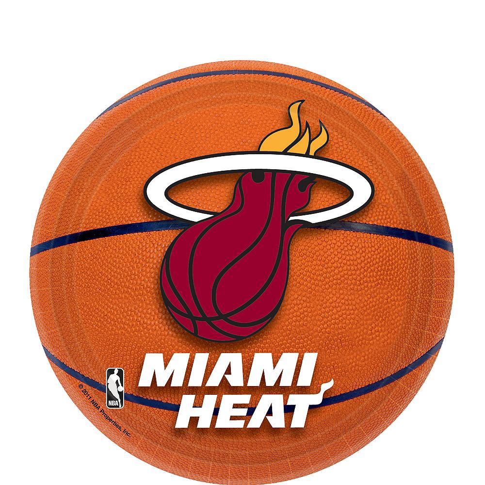 Miami Heat Dessert Plates 8ct Image #1