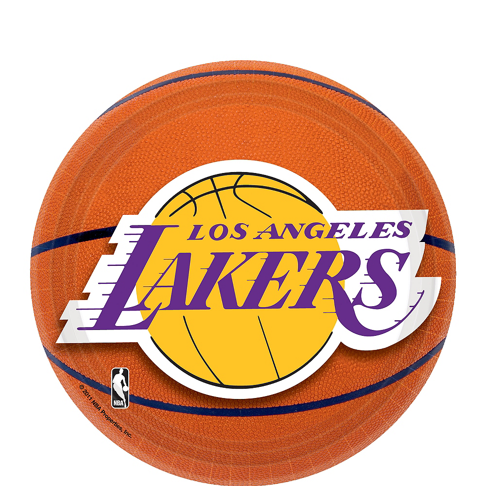 Los Angeles Lakers Dessert Plates 8ct Image #1