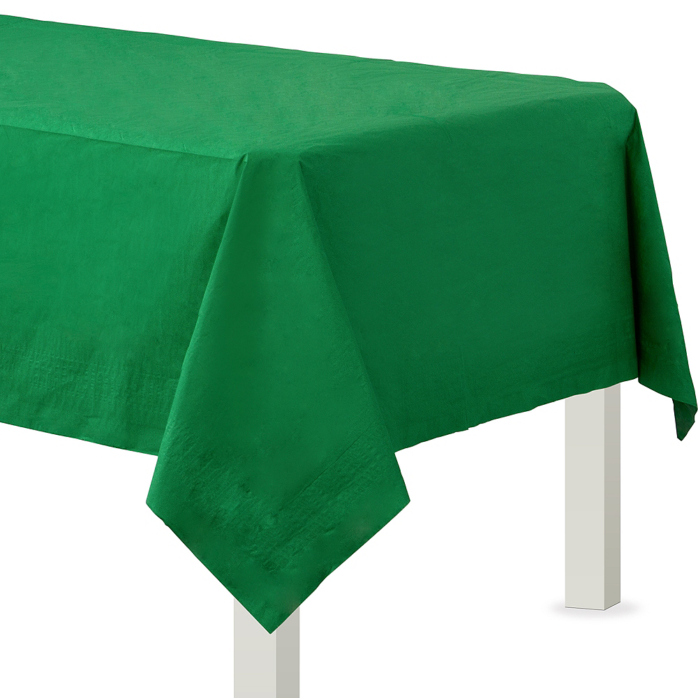 Festive Green Paper Table Cover Image #1