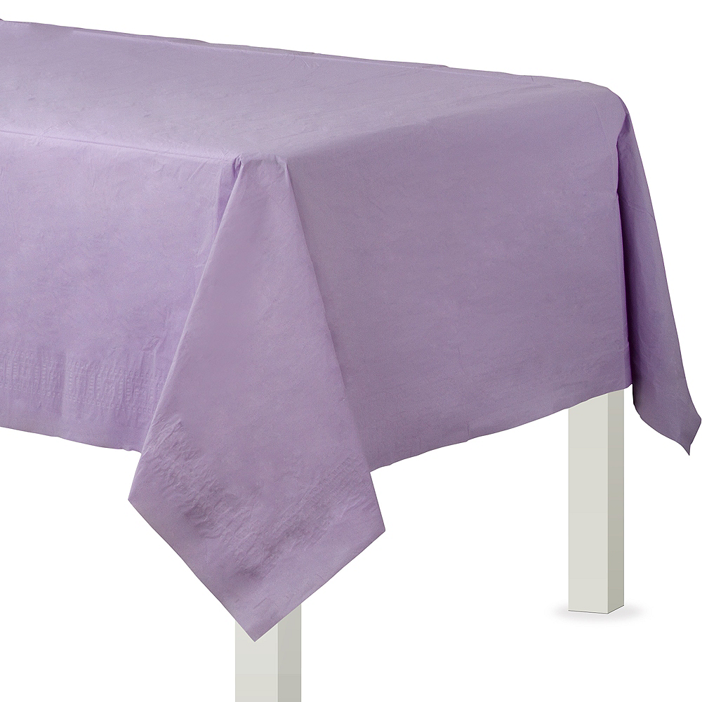 Lavender Paper Table Cover Image #1