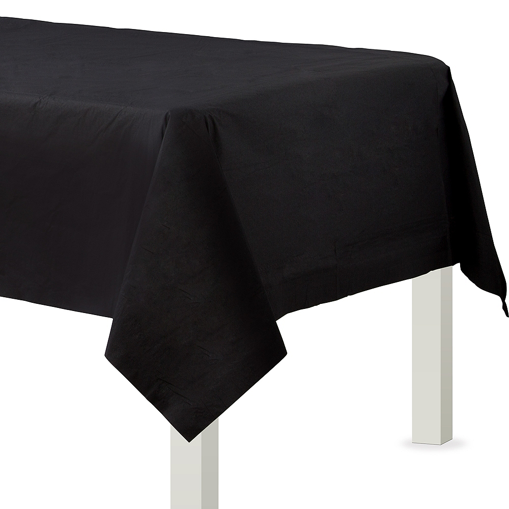 Black Paper Table Cover Image #1