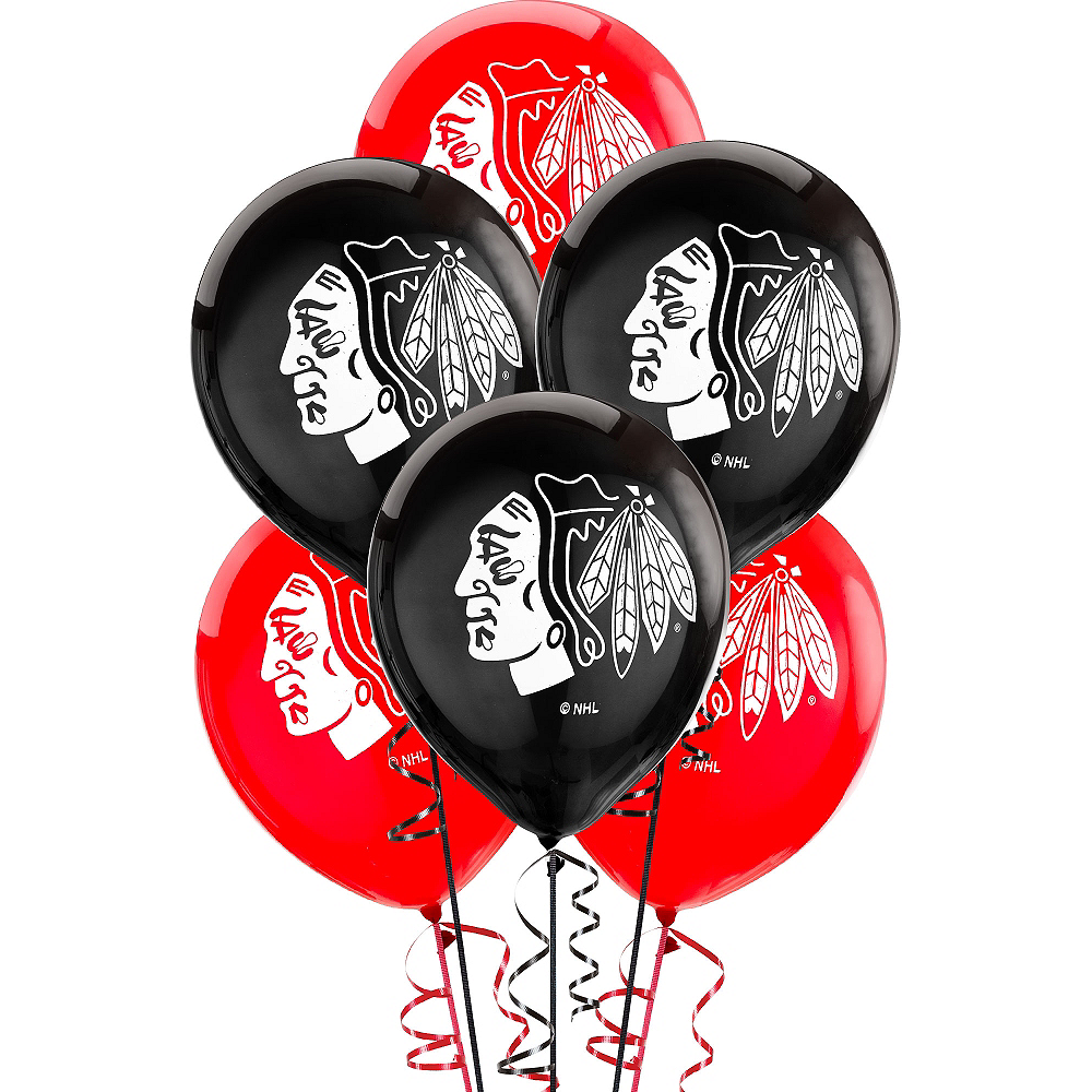 Chicago Blackhawks Balloons 6ct Image 1