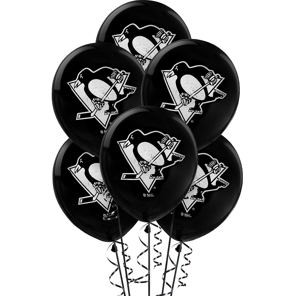 Nav Item for Pittsburgh Penguins Balloons 6ct Image #1