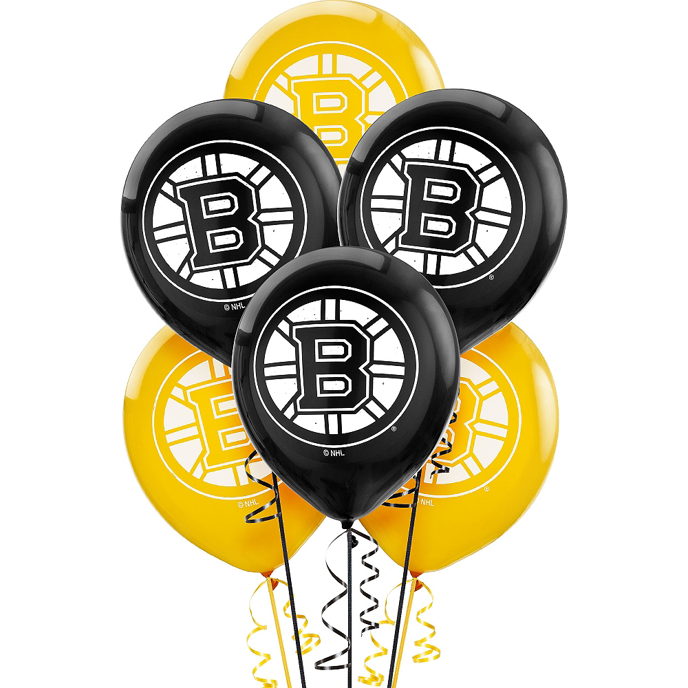 Boston Bruins Balloons 6ct Image #1