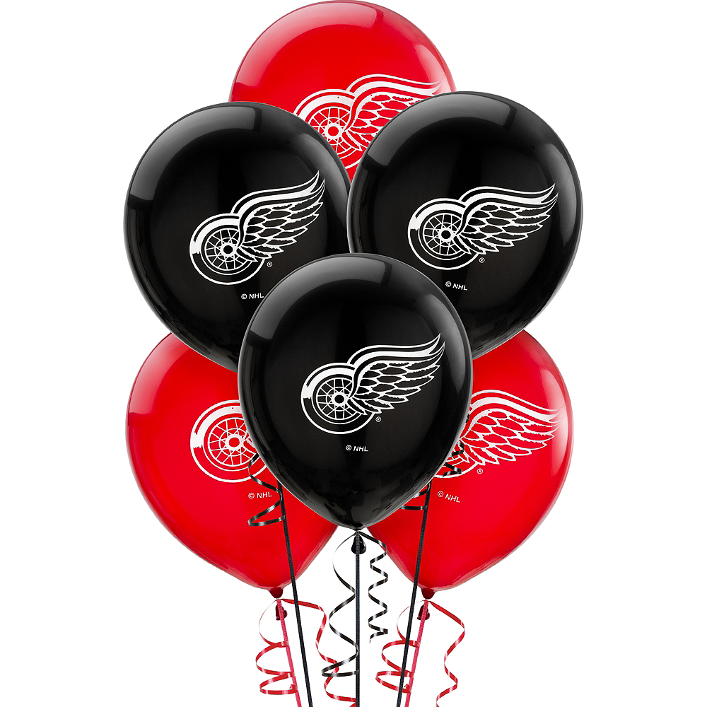 Nav Item for Detroit Red Wings Balloons 6ct Image #1