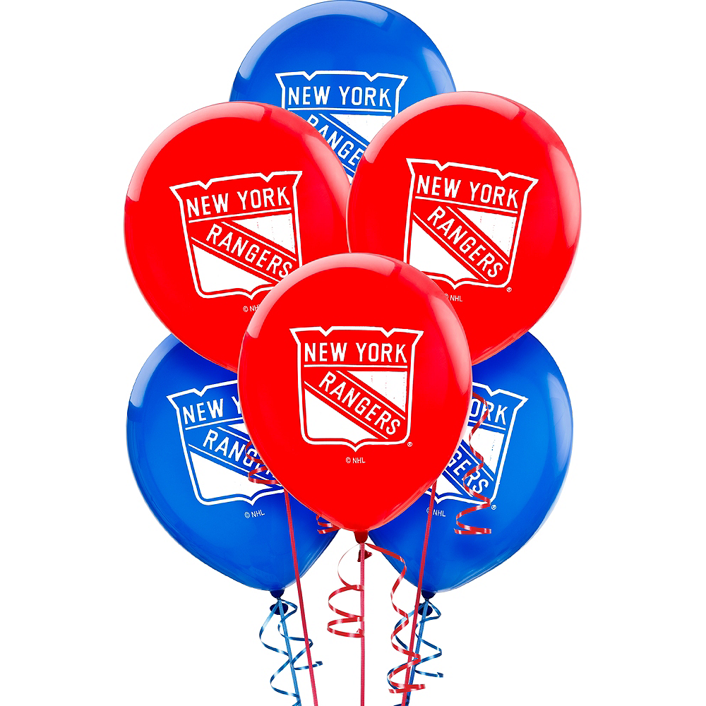 New York Rangers Balloons 6ct Image #1