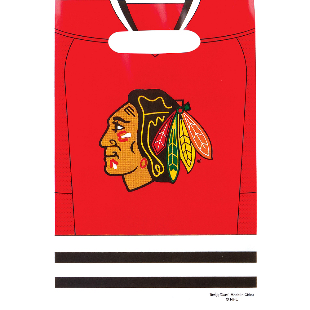 Chicago Blackhawks Favor Bags 8ct Image #1