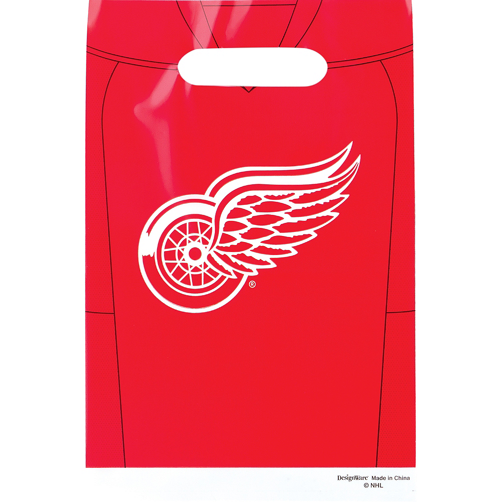 Detroit Red Wings Favor Bags 8ct Image #1