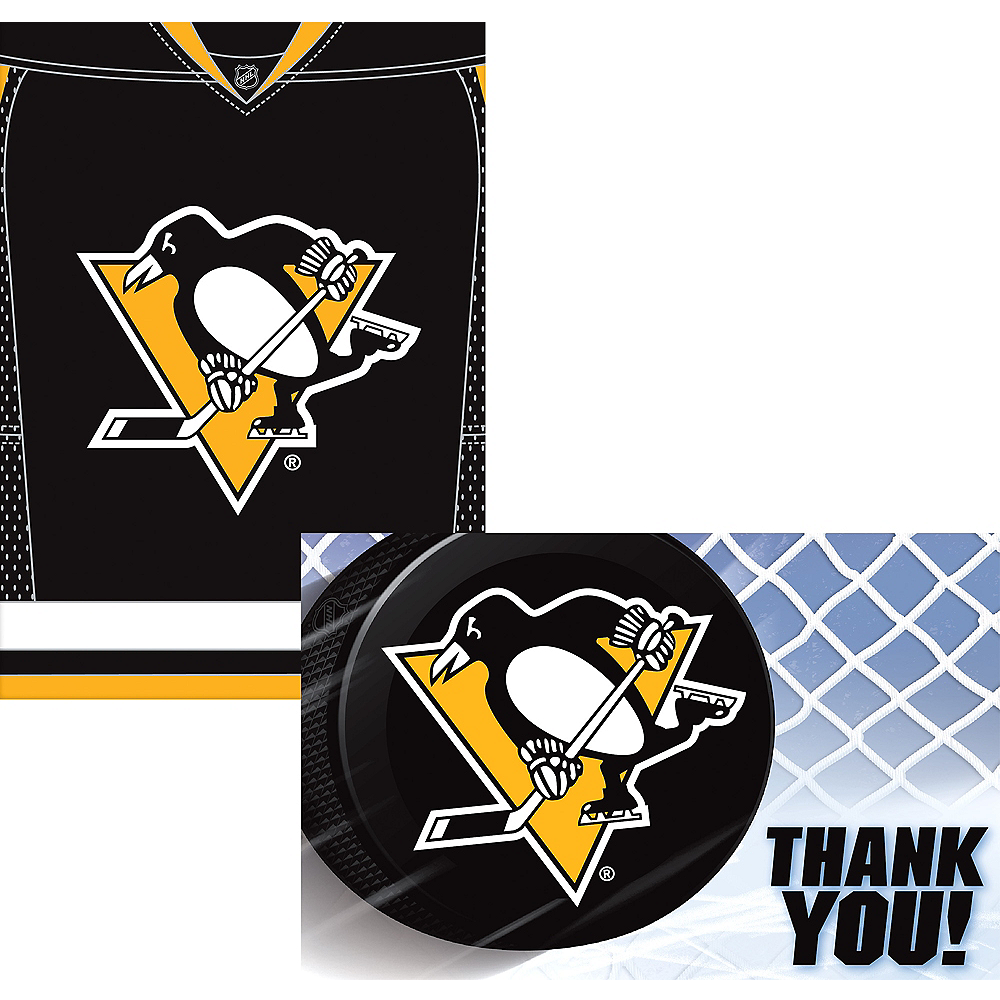 the best attitude 6126c 1ab72 Pittsburgh Penguins Invitations & Thank You Notes for 8