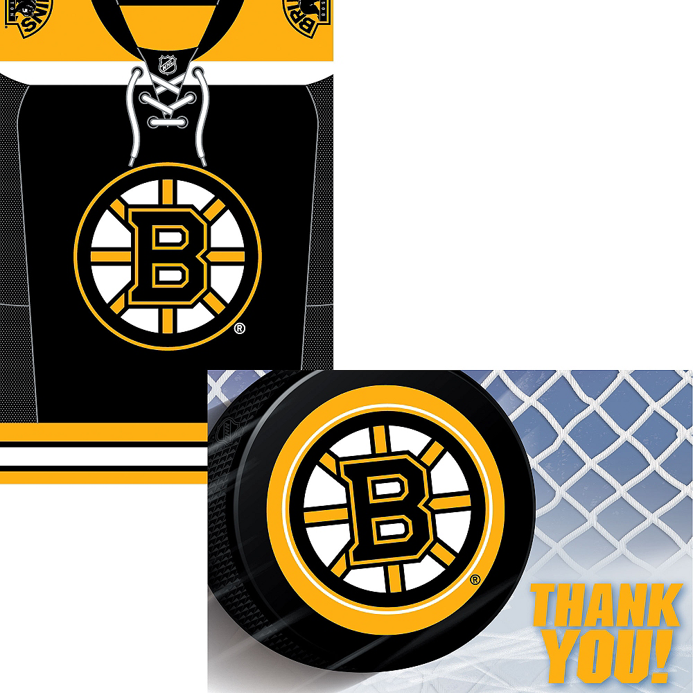 Boston Bruins Invitations & Thank You Notes for 8 Image #1