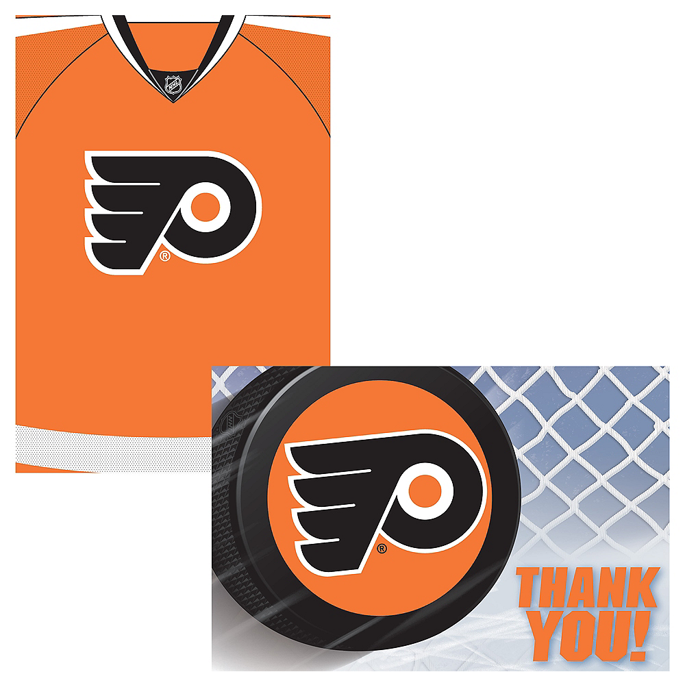 Philadelphia Flyers Invitations & Thank You Notes for 8 Image #1