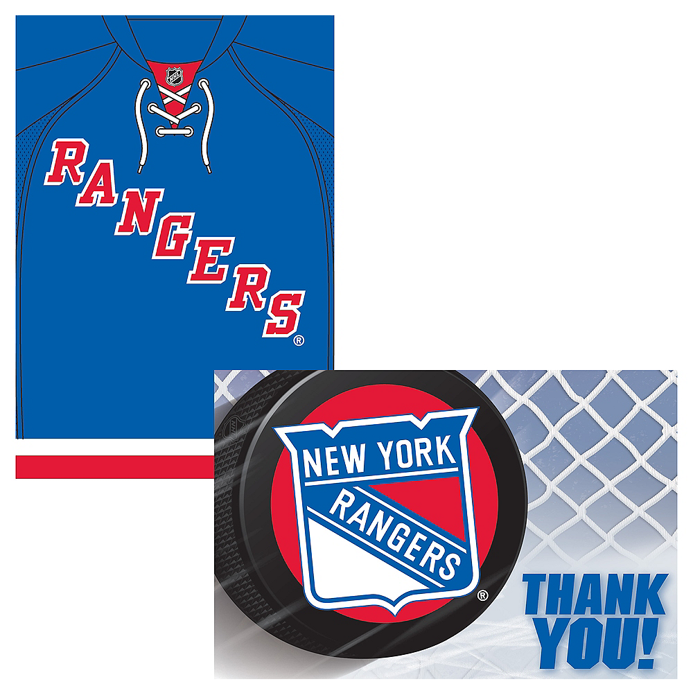 New York Rangers Invitations & Thank You Notes for 8 Image #1