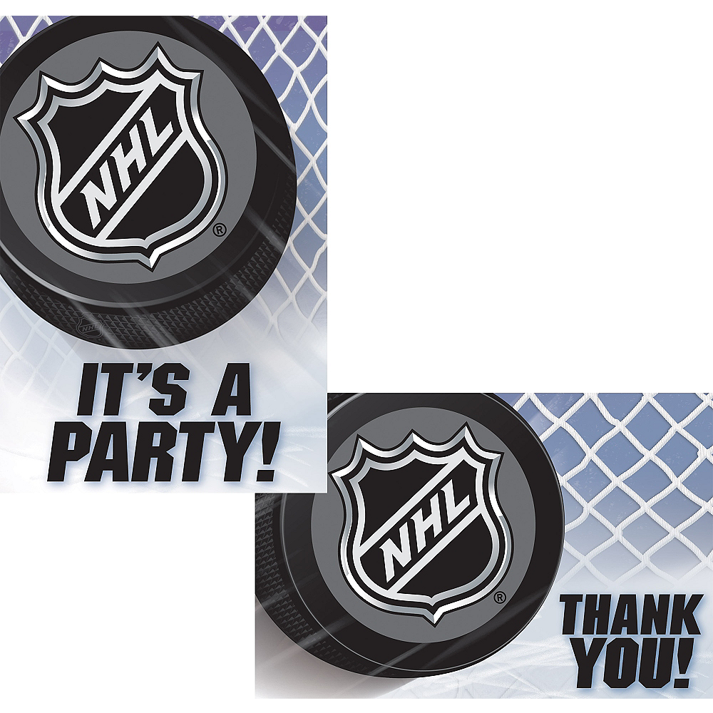 NHL Hockey Invitations & Thank You Notes for 8 Image #1