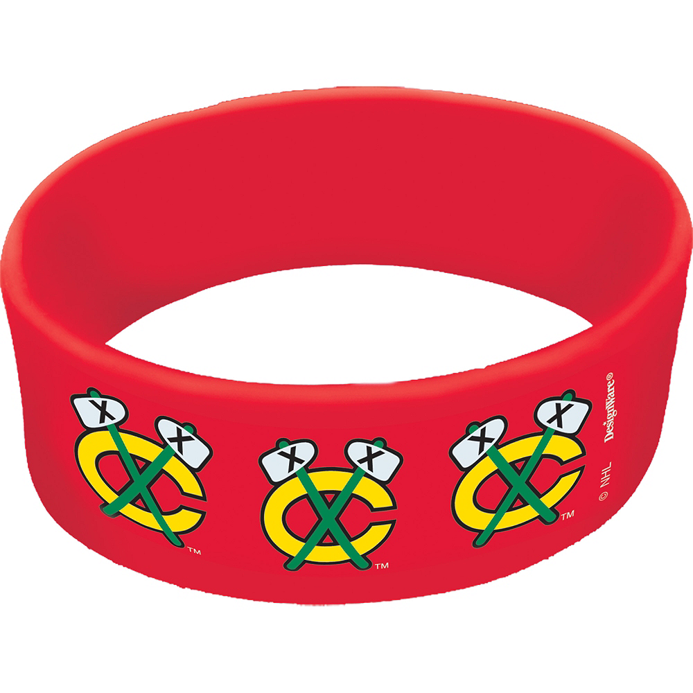 Chicago Blackhawks Wristbands 6ct Image #1