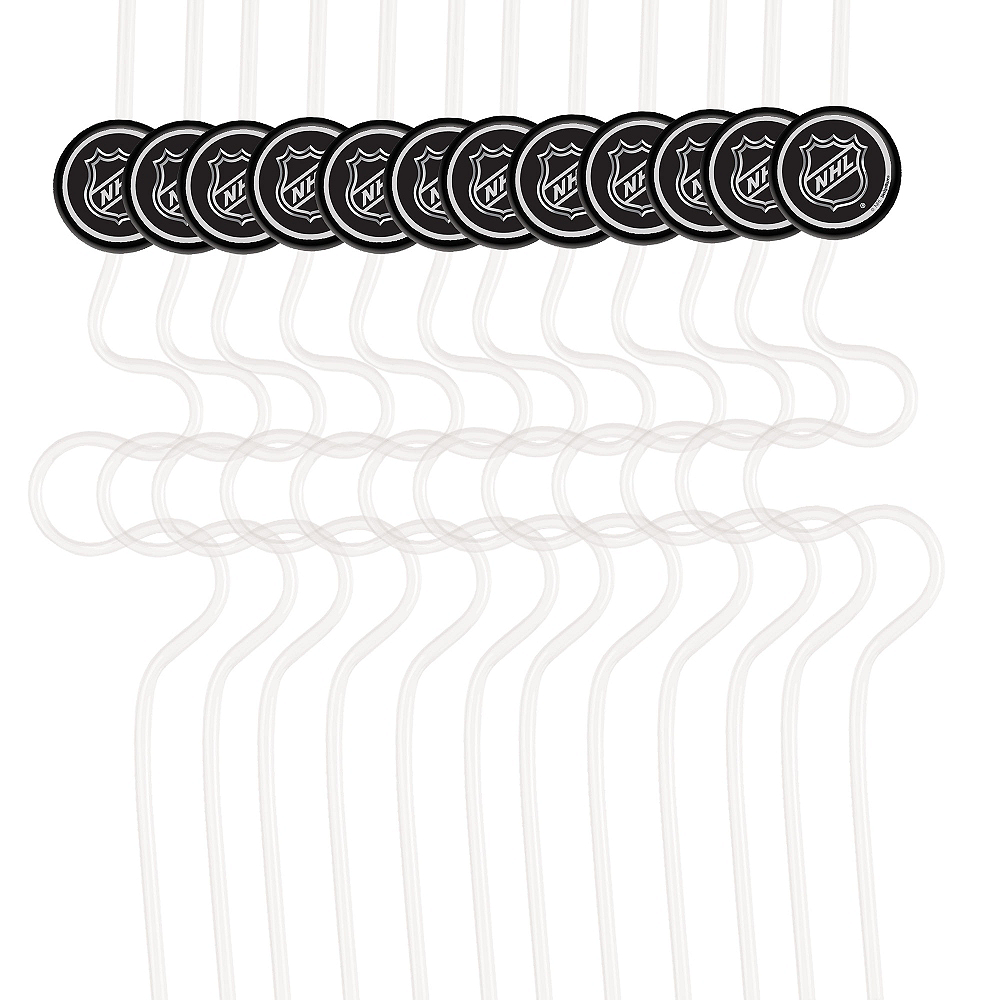 NHL Silly Straws 12ct Image #1