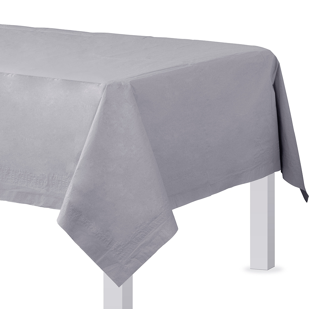 Silver Paper Table Cover Image #1